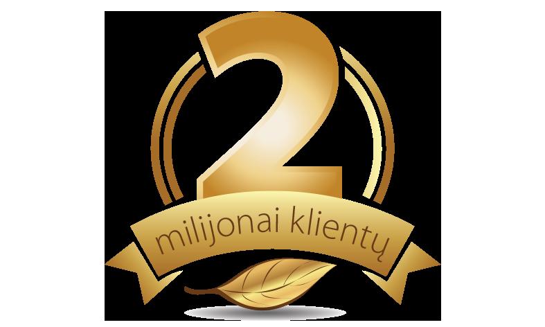 2 milijonai klientų Europoje